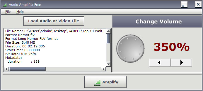 Adjust the actual volume of audio & video