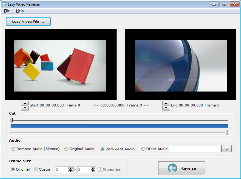 Click to view Easy Video Reverser screenshots