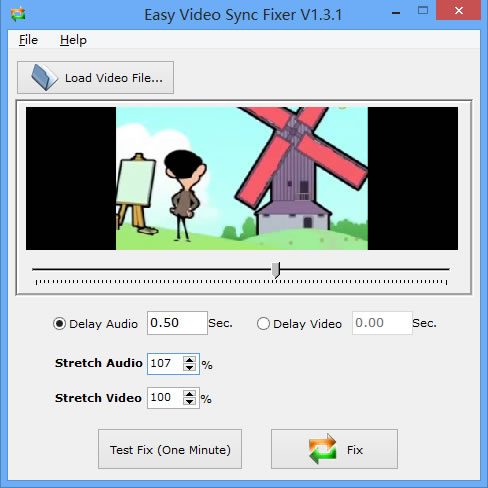 Easy Video Sync Fixer Screen shot