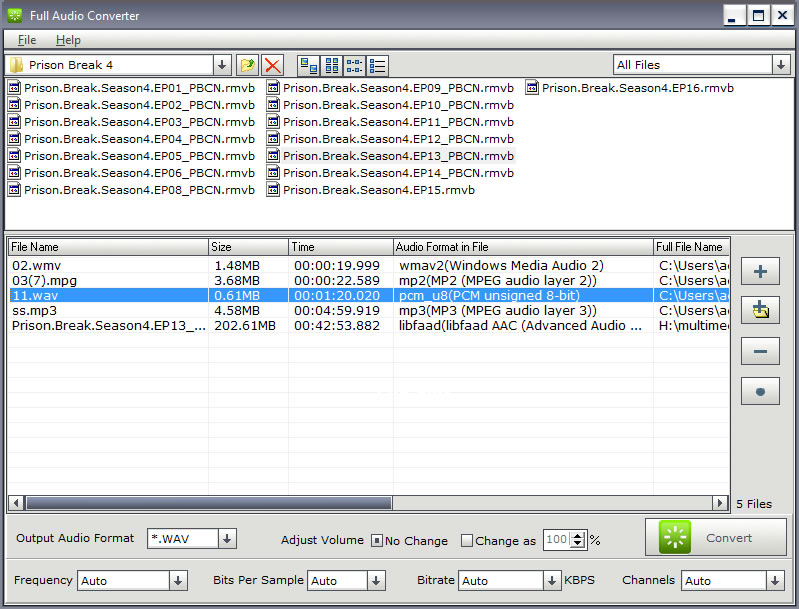 Click to view Full Audio Converter screenshots