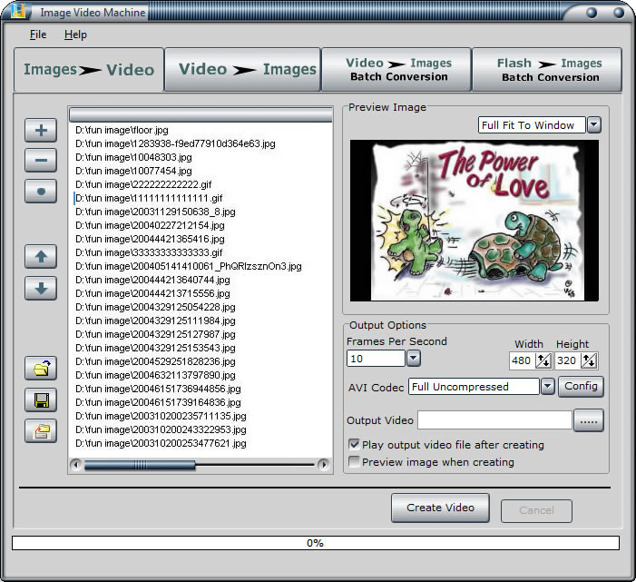 Screenshot of Image Video Machine