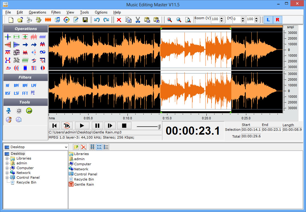 Click to view Music Editing Master 11.2 screenshot