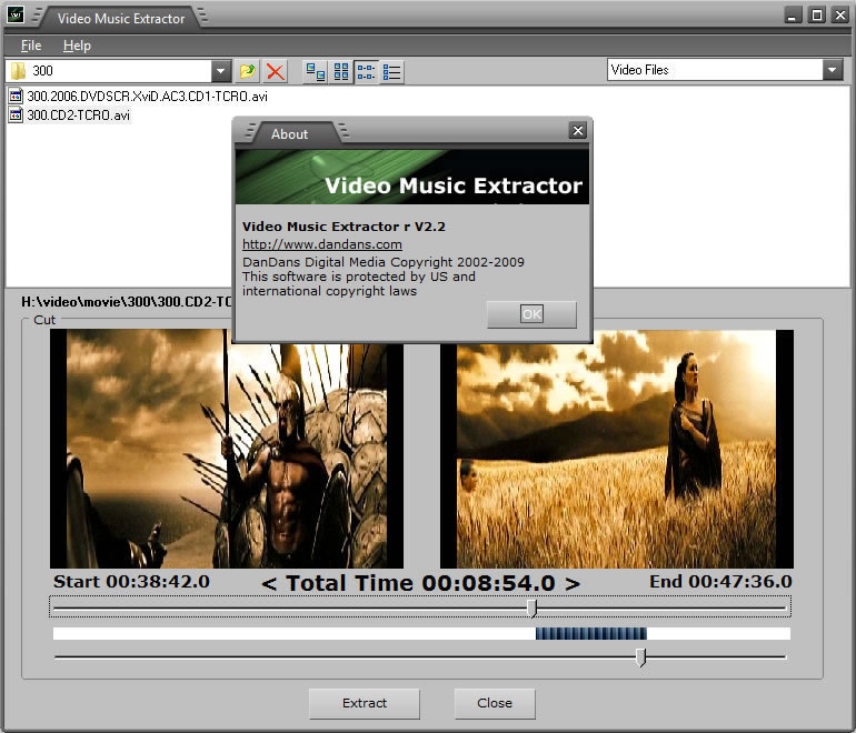 Click to view Video Music Extractor 3.3 screenshot