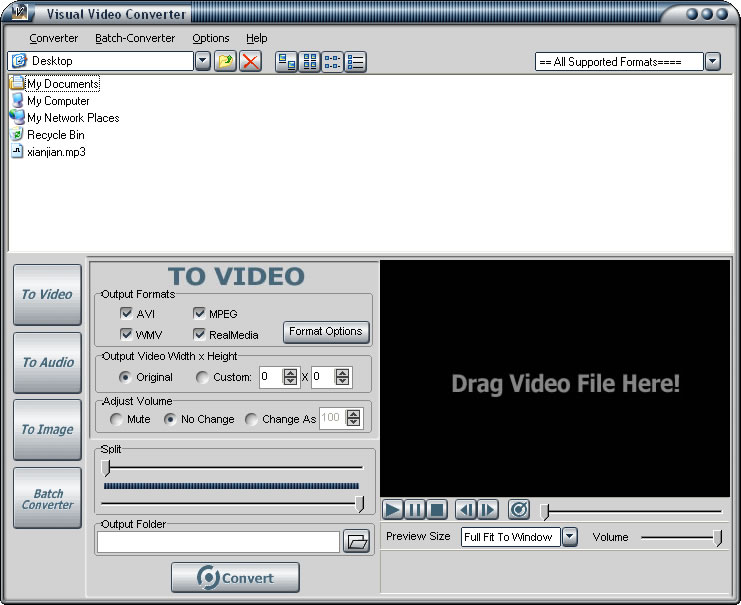 Click to view Visual Video Converter 4.3 screenshot
